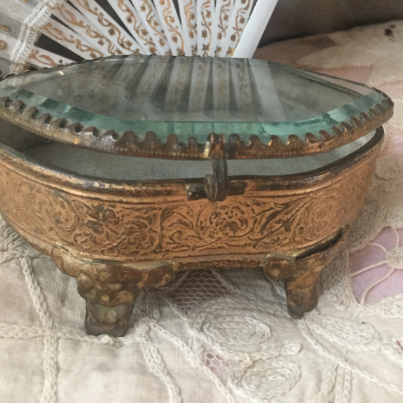 Antique French jewellery casket