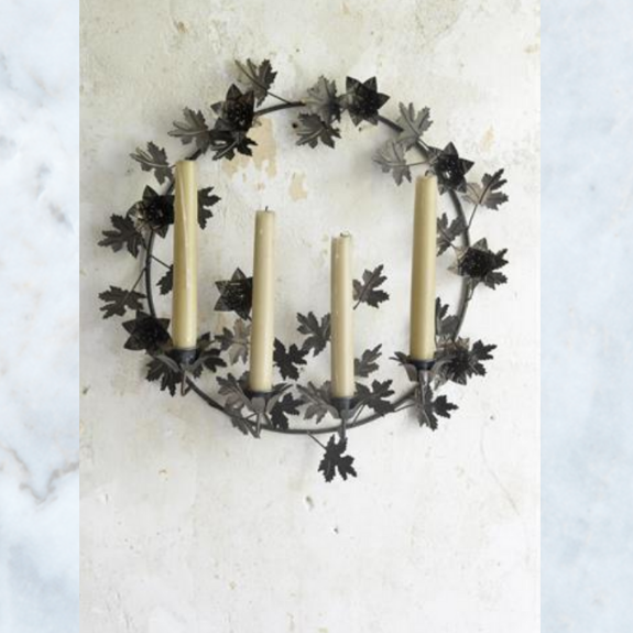 JDL candle holder wall wreath