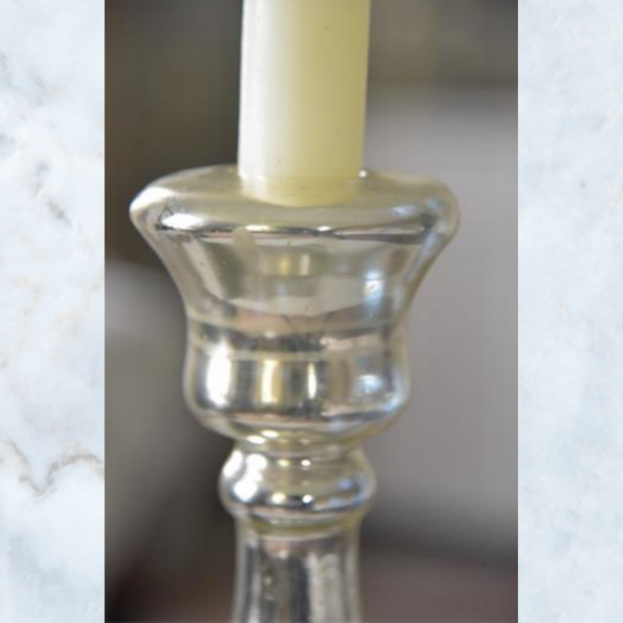 JDL mercury glass candle stick