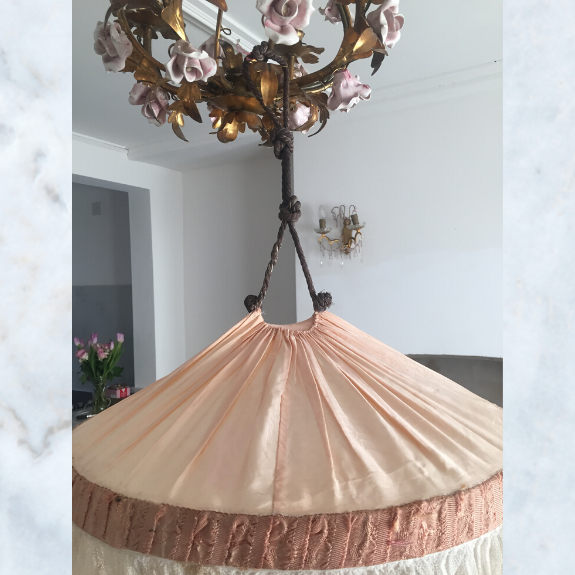 1920's silk bed canopy