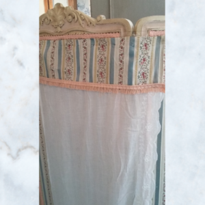 French cornelli & brocade curtain panel