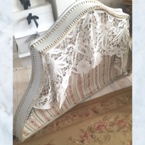 Antique French bed canopy