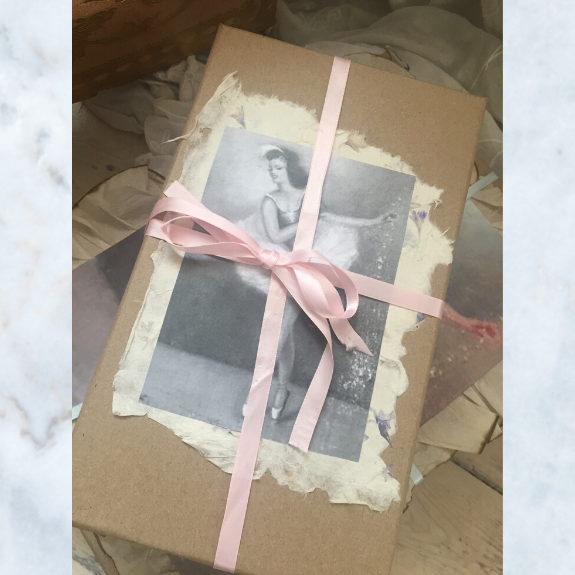 Vintage ballerina storage boxes