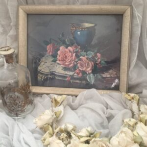 English roses and french porcelain picture by Vernon Ward