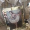 1920s French mirrored glass frame