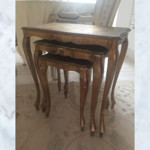 Italian florentine nest of tables