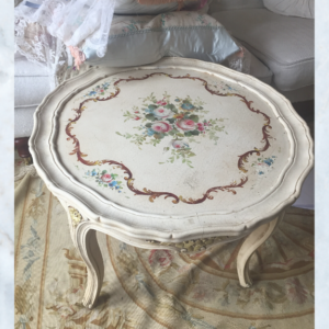 French louis floral table