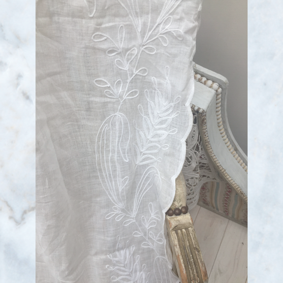 Vintage French cornely curtain panel