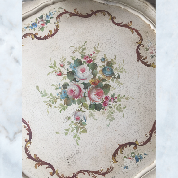 French floral louis table
