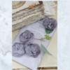 Jeanne d'Arc Living fabric flowers grey