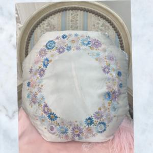 1920's embroidered silk cushion